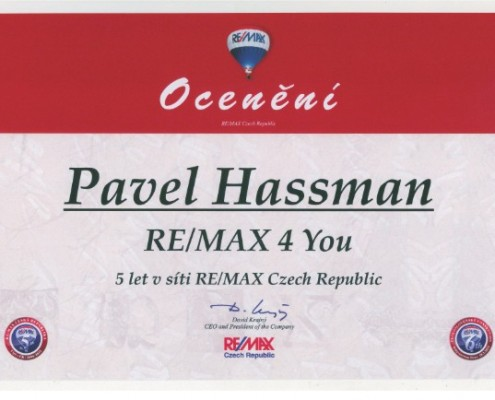 Pavel Hassman - 5 let v síti REMAX