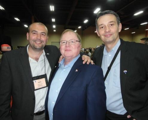 Pavel Hassman s Davem Linigerem a Milanem Gavenčiakem společně v Las Vegas