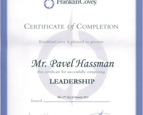 Pavel Hassman - Leadership Franklin Covey